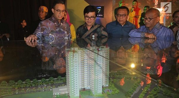 Anies-Sandi Groundbreaking Realisasi Program Rumah DP Rp. 0