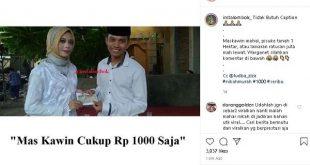 Masyaallah, Viral Wanita Di Lombok Ikhlas Dinikahi Dengan Mahar Rp. 1000