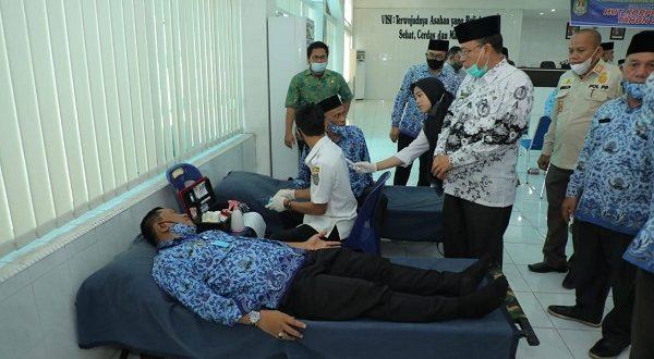 Peringati HUT ke-49 Tahun, KORPRI Asahan Gelar Gowes & Donor Darah